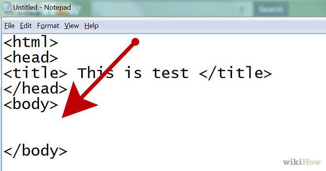 hacer una pagina web con codigo html: